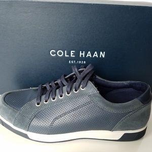 NEW Cole Haan Vartran Sport Oxford Blue Sneakers